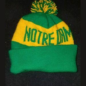 Vtg 90s notre dame fighting irish beanie hat